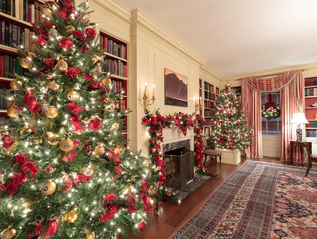 """Årets jultema är """"amerikanska skatter""""."""