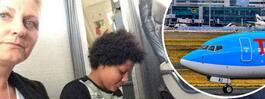 Familj tvingades sitta på kabingolvet under flygresa