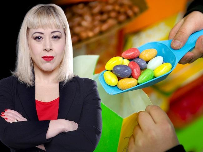 """""""I mitt storköp är plockgodiset ofta billigare än färska grönsaker. Det är helt sjukt"""", skriver Expressens medicinreporter Anna Bäsén."""