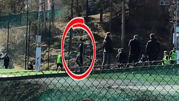 Här tränar Zlatan med Hammarby - se bilderna