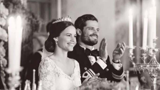 Prinsparets tack efter gårdagens bröllop. Foto: Erika Gerdemark/Kungahuset.se