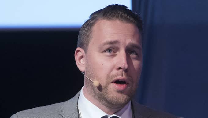 Ingen från S, MP eller V ville debattera mot SD:s Mattias Karlsson. Foto: Sven Lindwall