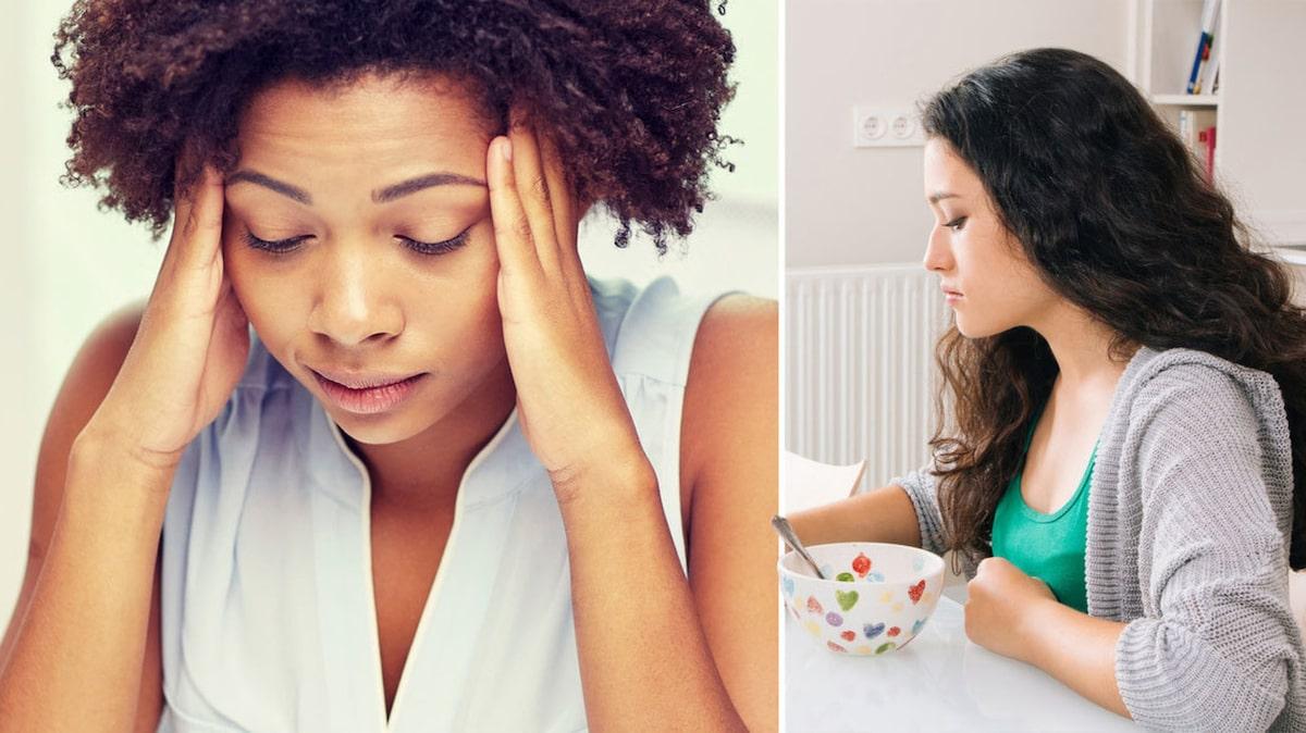 illamående ingen aptit huvudvärk