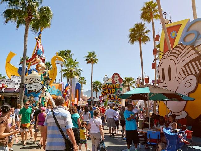 Universal studios är en av alla kända nöjesparker i Orlando.