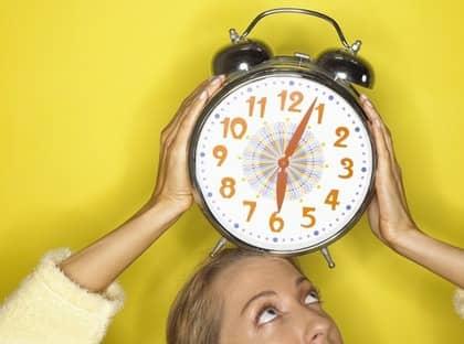 Du glömmer väl inte att ställa om klockan?