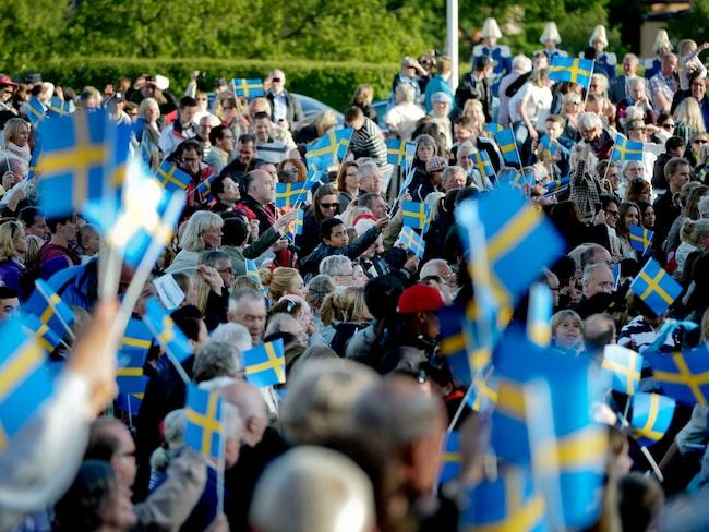 Förra året samlades mycket folk på Skansen den 6 juni.