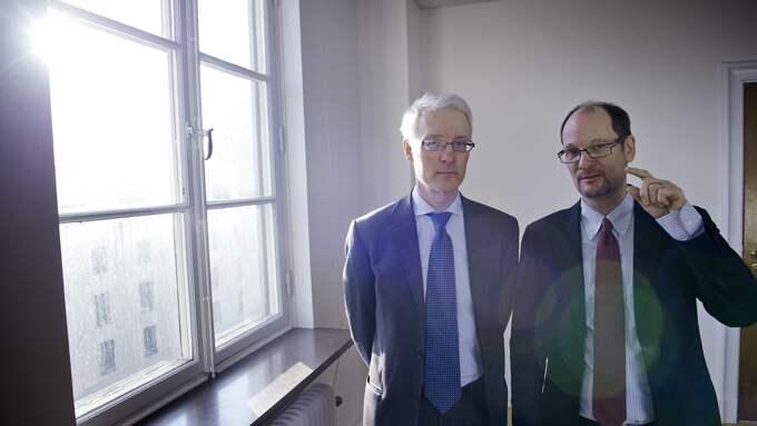 """Henrik Didner och Adam Gerge har blivit rika på att sköta PPM-pensioner. Deras fonder går ungefär som den statliga AP7-fonden, men avgifterna för spararna är 172 procent högre. """"Jag vill påstå att de som är allra nöjdast är våra kunder"""", säger Henrik Didner. Foto: Jonas Lindkvist/Scanpix"""