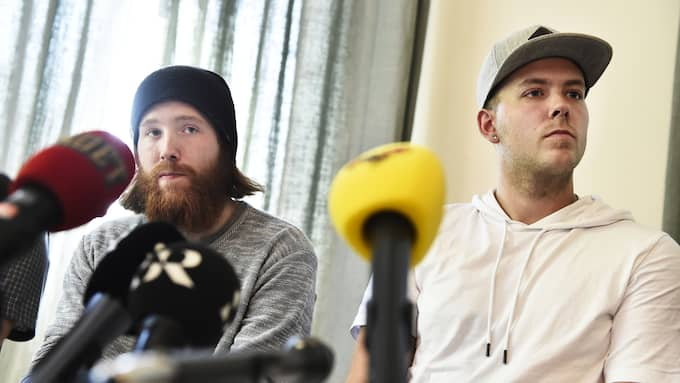 Robin Dahlén och Christian Karlsson, de två bröder som pekats ut, är oskydliga, enligt Leif GW. Foto: NOELLA JOHANSSON / TT NYHETSBYRÅN