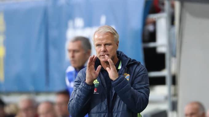 U21-landslagets förbundskapten Roland Nilsson. Foto: ADAM IHSE/TT / TT NYHETSBYRÅN