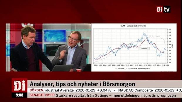 """Peter Malmqvist snackar H&M: """"Påväg upp mot nya relativa toppkurser"""""""