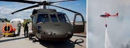 Bara 2 av 10 helikoptrar används till bränderna
