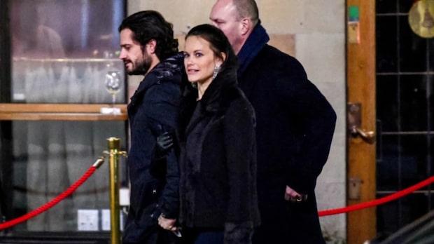 Prins Carl Philips och prinsessan Sofias kärleksmiddag i centrala Stockholm