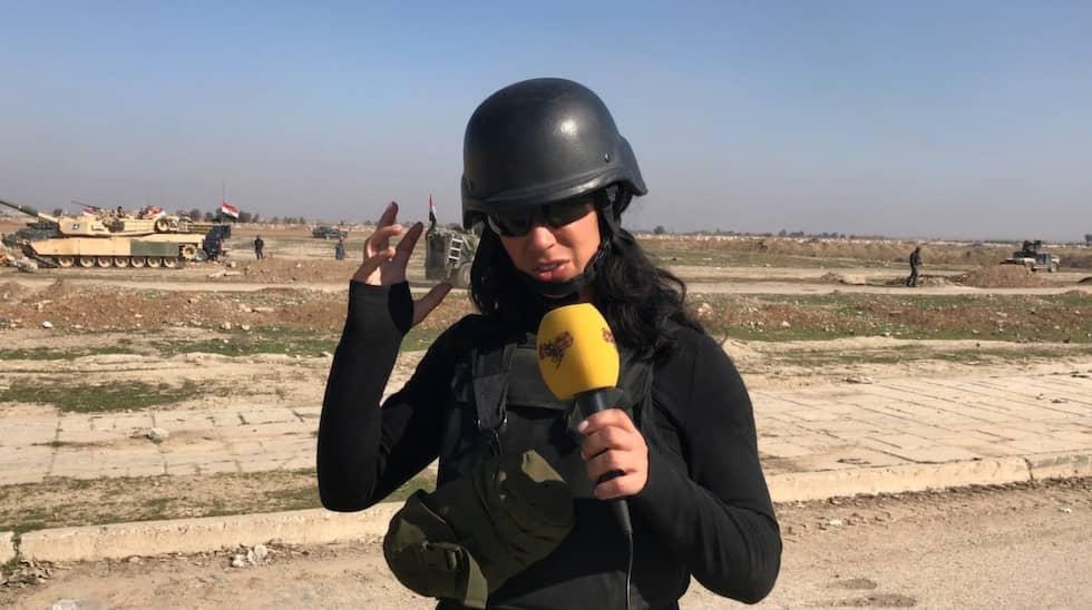 Expressens Magda Gad i Mosul. Foto: Magda Gad
