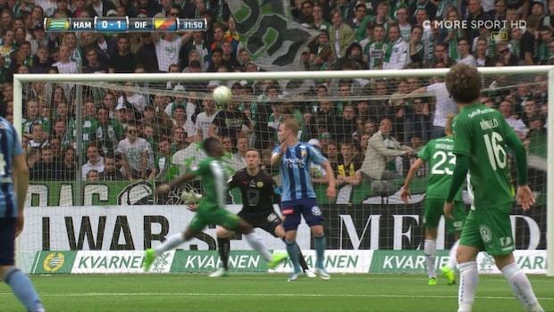 Engvall nickar in 1-0 för Djurgården i derbyt