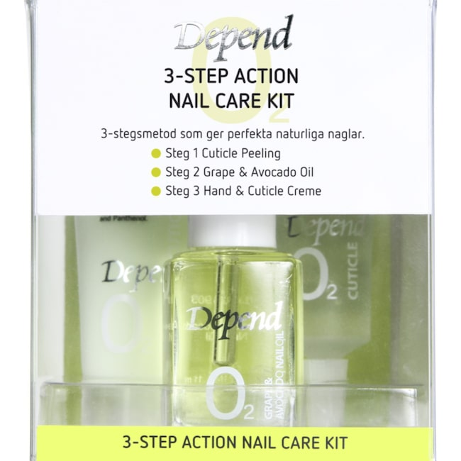 "<span>3-step action Nail care kit, 199 kronor, Depend.</span><span><span class=""wasp-icon""></span><span class=""wasp-icon""></span><span class=""wasp-icon""></span><span class=""wasp-icon""></span><span class=""wasp-icon""></span><br></span>"