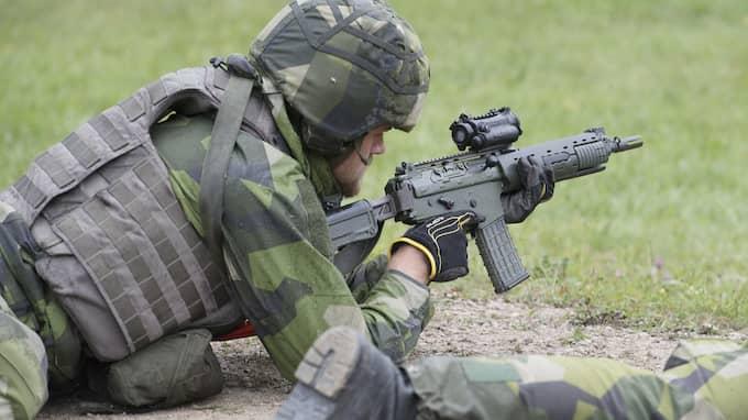 Försvarsmakten är en av de drabbade myndigheterna. Foto: SVEN LINDWALL