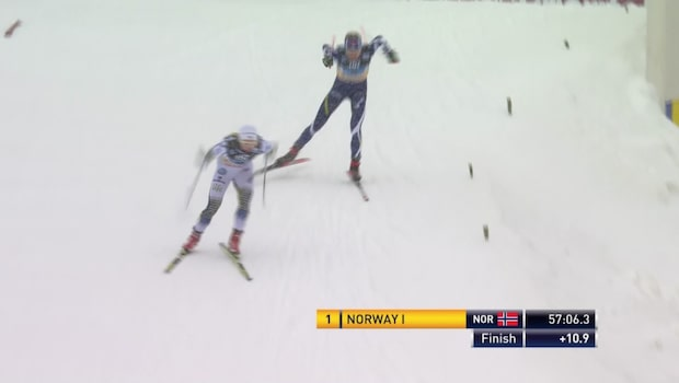 Här spurtar Sundling ner finskan