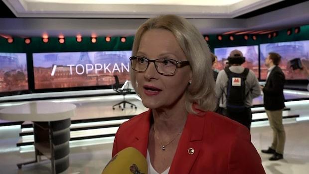 Heléne Fritzon (S) efter utfrågningen i SVT