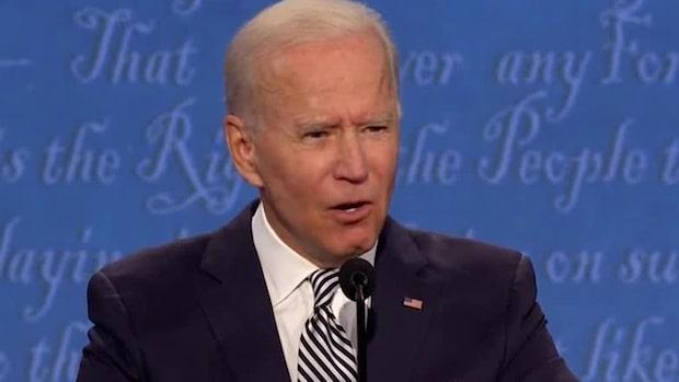 Här ber Joe Biden Donald Trump att hålla käften