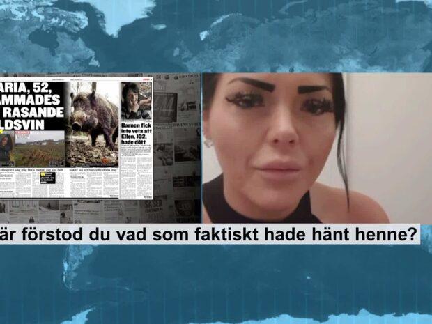"""Madelene om vildsvinsattacken: """"Det var en chock"""""""