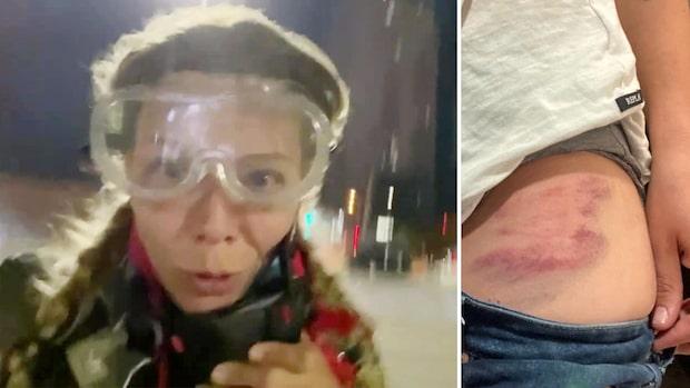 Polis sköt Expressens reporter i protestkaoset