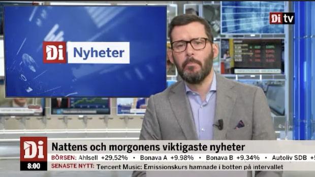 Di Nyheter 08:00 – Morgonens viktigaste ekonominyheter