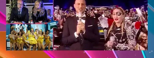 Madonna bjöd på mellanakt i årets Eurovision song contest