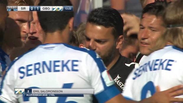 HÖJDPUNKTER: Emil Salomonsson ger IFK Göteborg ledningen