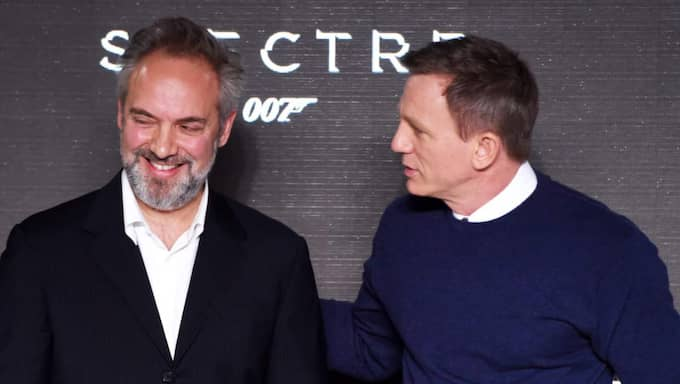 Sam Mendes och Daniel Craig. Foto: David Fisher/Rex