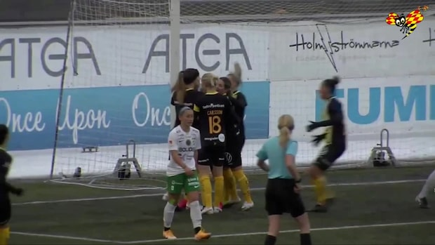 Hammarby vann toppmötet – på väg mot damallsvenskan