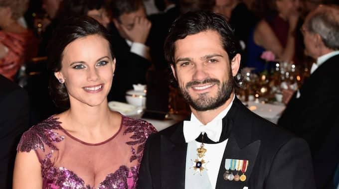Prinsessan Sofia gjorde sin Nobeldebut på förra årets fest. Foto: Le Segretain Pascal