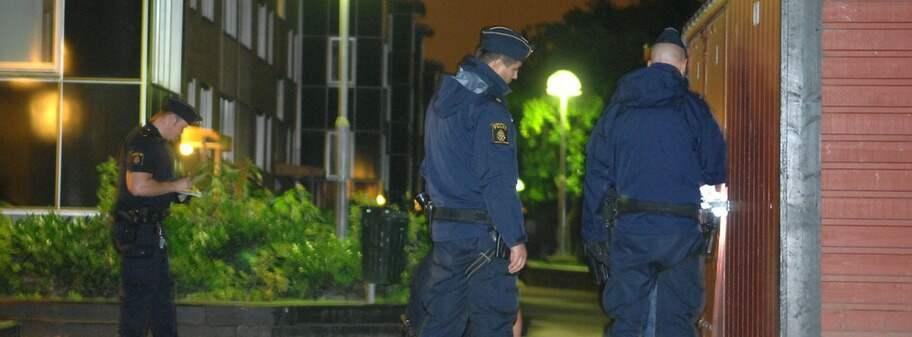 Polis skot pistolman i lulea