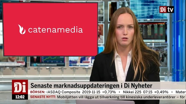 Di Nyheter: Rapporterande Catena Media faller över 11 procent