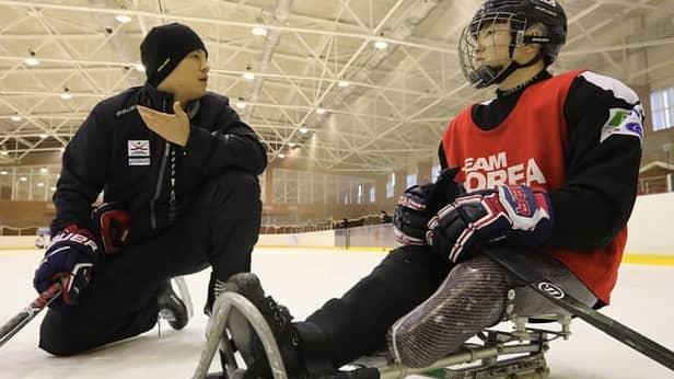Choi Kwang-hyouk debuterar i OS för Sydkorea Foto: Sydkoreanska paraishockey förbundet