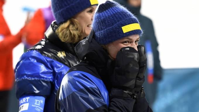 Hanna Öberg tog OS-guld i skidskytte. Foto: / SVEN LINDWALL