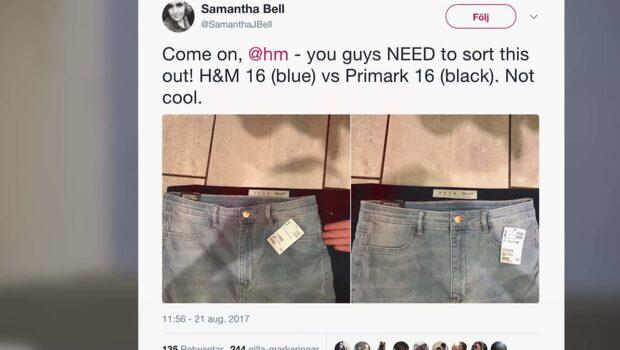 Kritiken mot svenska klädjättens storlekar