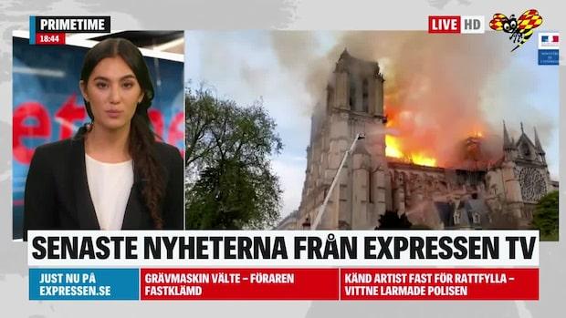 Kortslutning tros ligga bakom branden i Notre-Dame