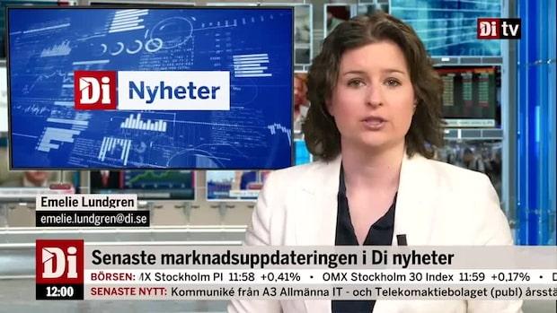 Marknadsnytt 12.00 - börsen går mot stängning, Scandic rusar