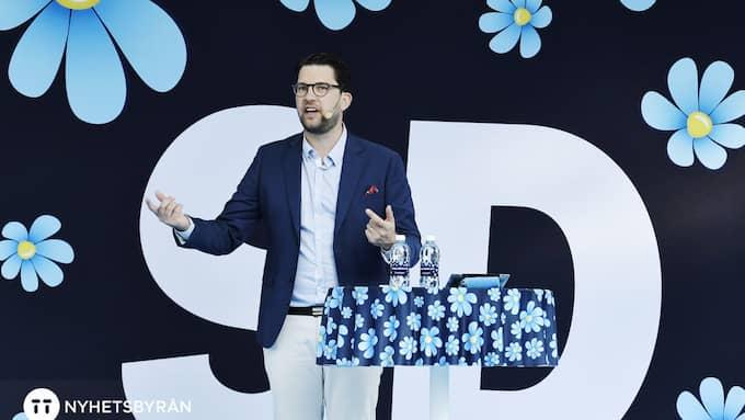 Sverigedemokraternas partiledare Jimmie Åkesson. Foto: JANERIK HENRIKSSON/TT / TT NYHETSBYRÅN
