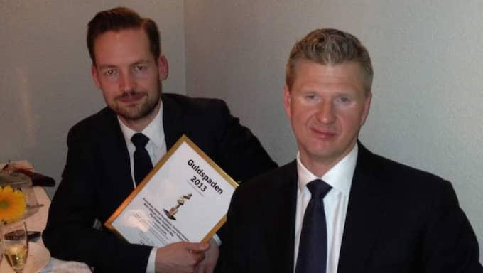Expressens David Baas och Christian Holmén. Foto: Hanna Jakobson