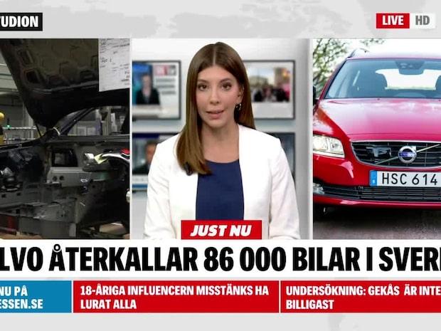 Volvo återkallar 86 000 bilar i Sverige – kan börja brinna