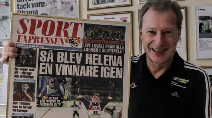 Här är Stig Wiklund med SportExpressens förstasida.