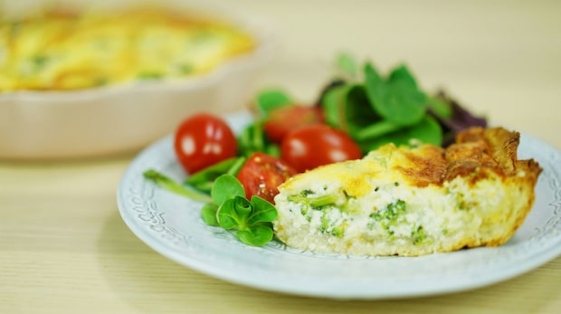 Recept på enkel broccolipaj