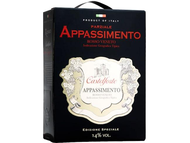 Castelforte Partziale Appassimento toppade listan för röda viner i antal sålda liter.