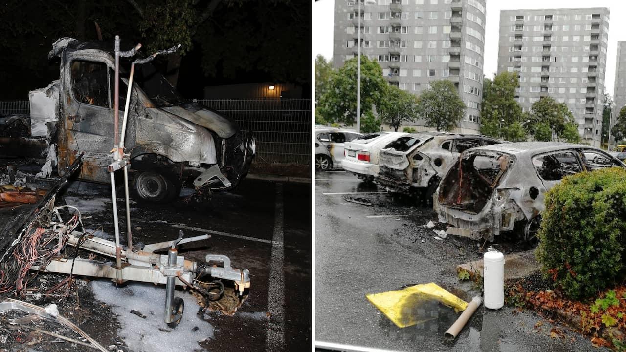 Numerosos coches en llamas en centro comercial en Gotemburgo y otras ciudades suecas (SW)