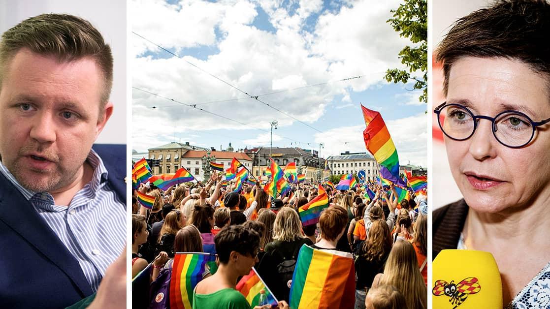 Nedplockade Pride-dekorationer väcker starka reaktioner