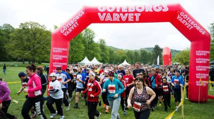 Eddie Berggren och Henrik Johnsson kämpade sig runt den långa sträckan på 4,1 kilometer. Foto: Robin Aron