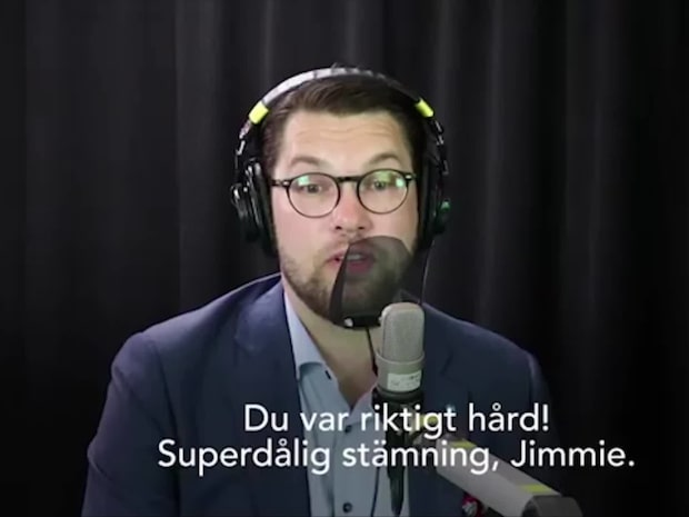 Åkessons ilska i Morgonpasset i P3 - se filmen från studion
