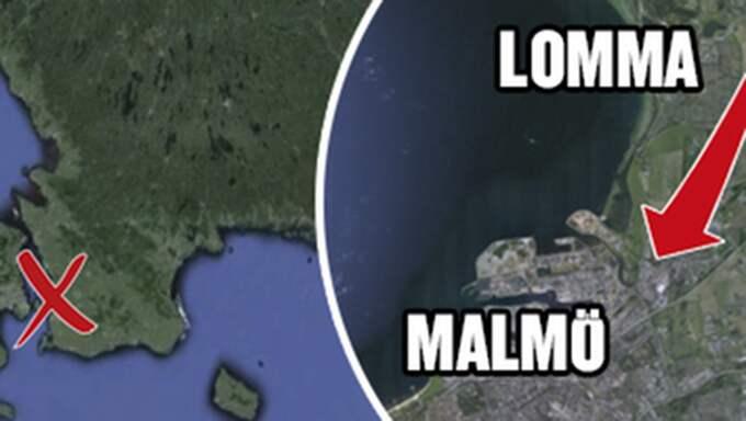 Vansinnesfärden gick från Lomma mot Malmö.