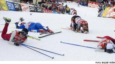 Den sista backen i Tour de ski krävde sina offer men det var en riktigt fantastisk avslutning av tävlingarna i Val di Fiemme.